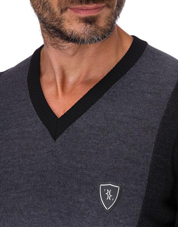 "Pullover V-Neck LS ""Tobias"""