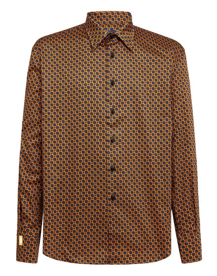 Shirt Gold Cut LS/Flavio Chains