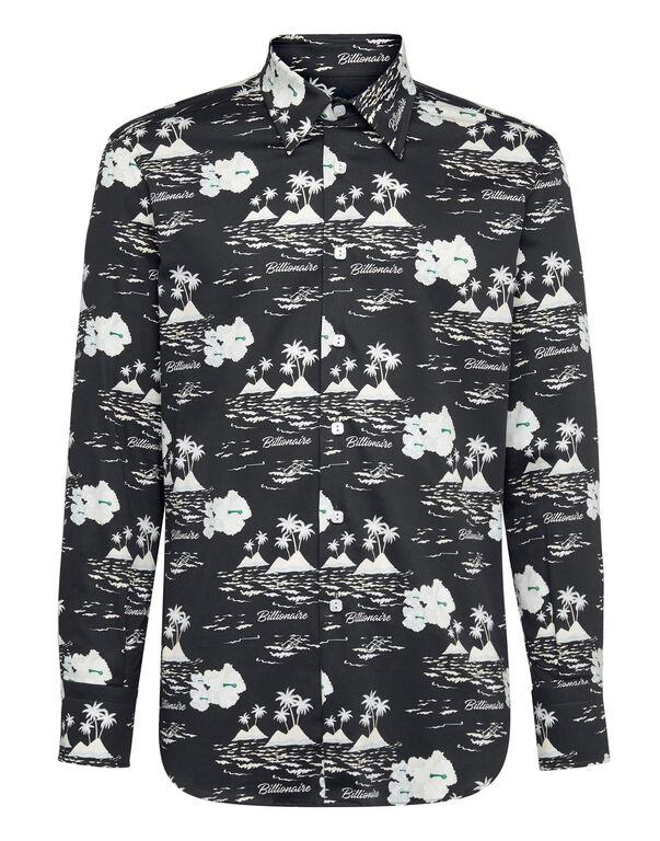 Shirt Silver Cut LS/Milano Palms
