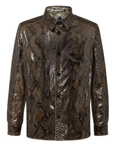 Python Leather Shirts Luxury