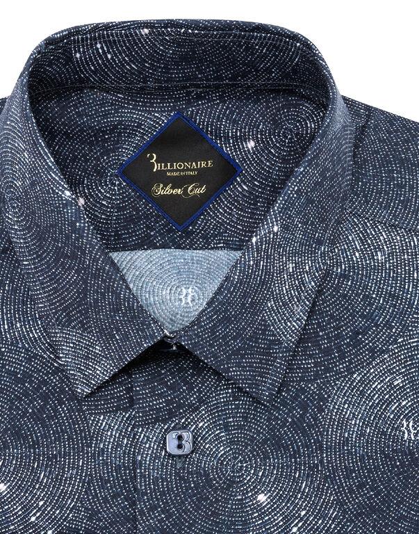 Shirt Silver Cut LS Crystal/Multi Geometric
