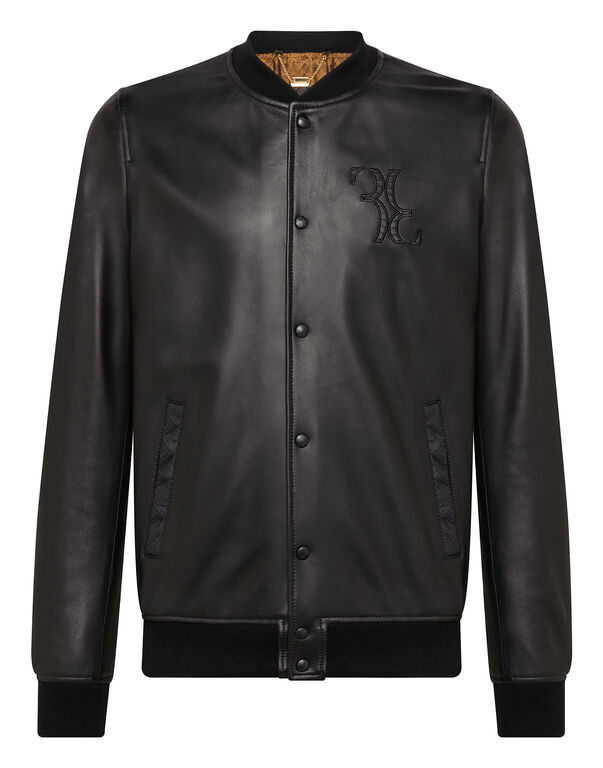 Leather Bomber Double B