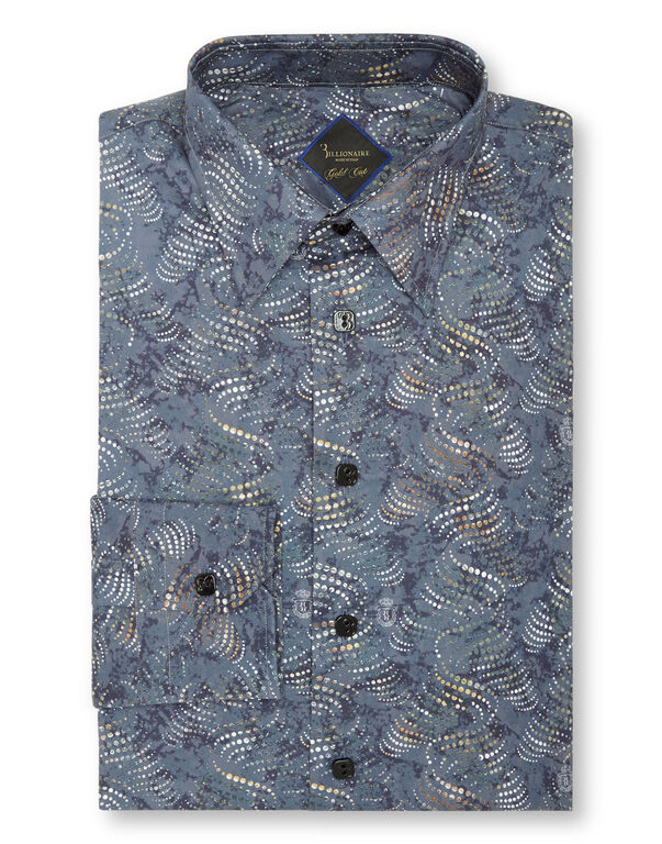 Shirt Gold Cut LS Milano/Multi Geometric