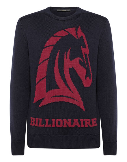 Pullover Round Neck LS Horses