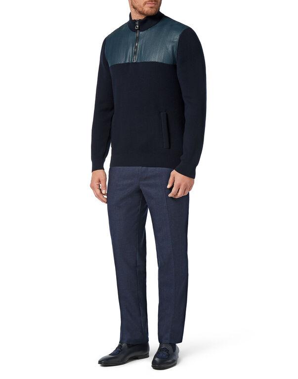 Pullover zip mock Luxury