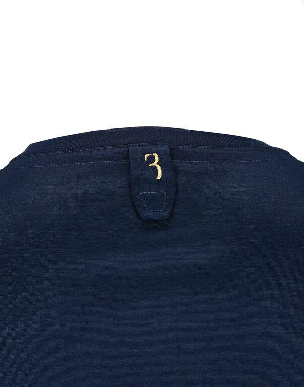 T-shirt V-Neck SS Crest
