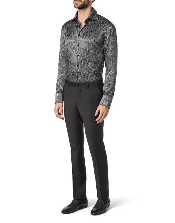 Silk Shirt Silver Cut LS/Flavio Baroque