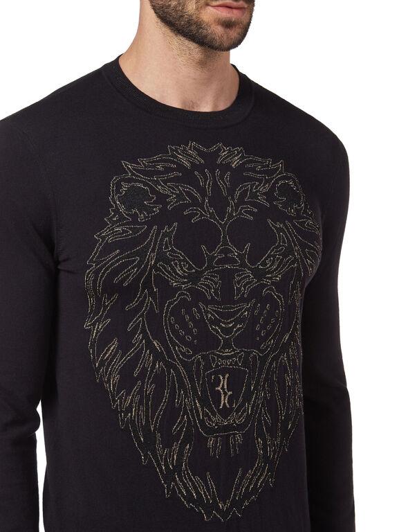 Pullover Round Neck LS Lion