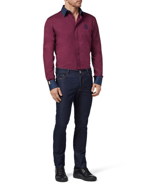 Shirt Silver Cut LS Milano/Multi Crest