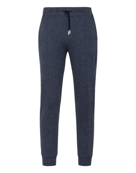 Cotton and Cashmere Jogging Trousers -T Crest
