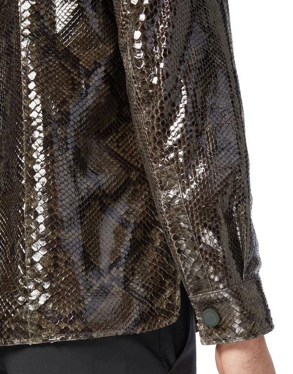 Python Leather Shirts Luxury