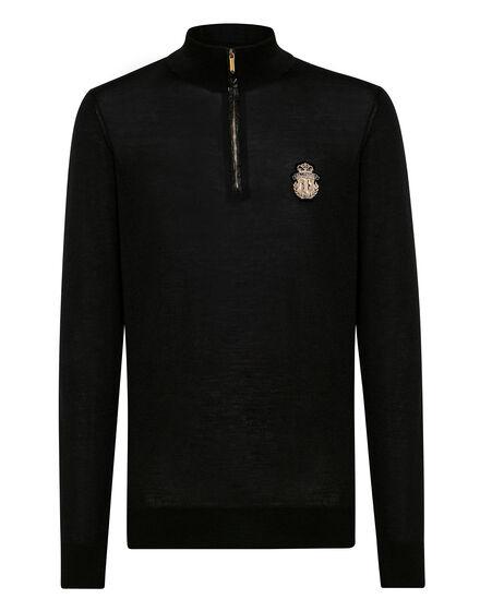 Pullover zip mock Giglio