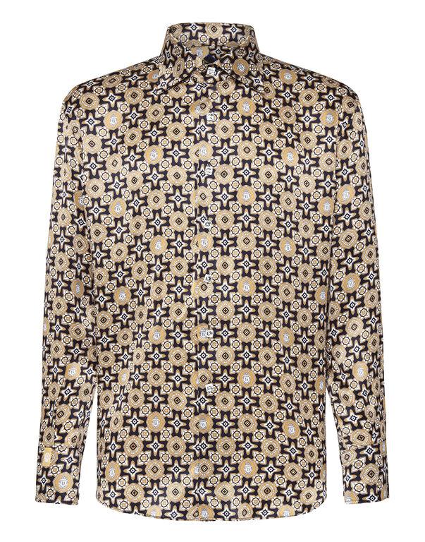 Shirt Gold Cut LS/Flavio Geometric