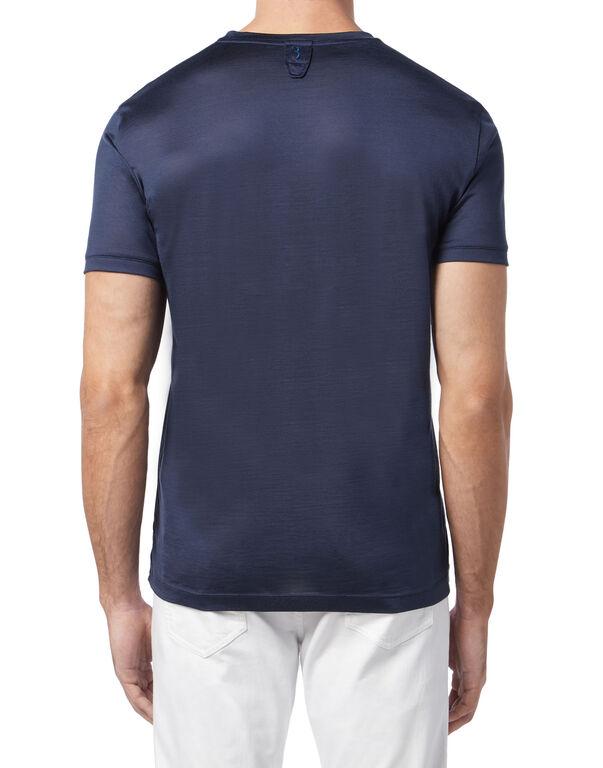 T-shirt V Neck SS Crest