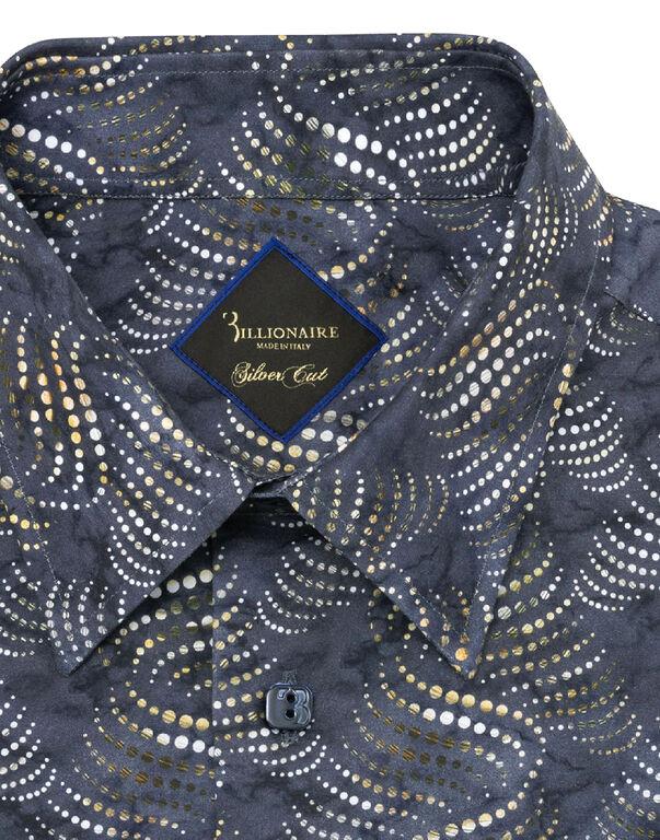 Shirt Silver Cut LS Milano/Multi Geometric
