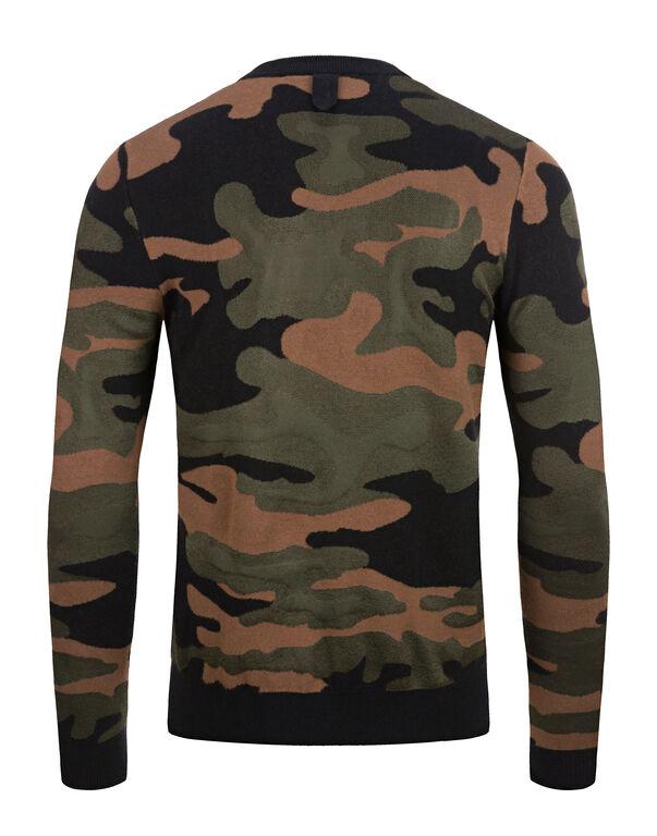 Pullover Round Neck LS Camouflage