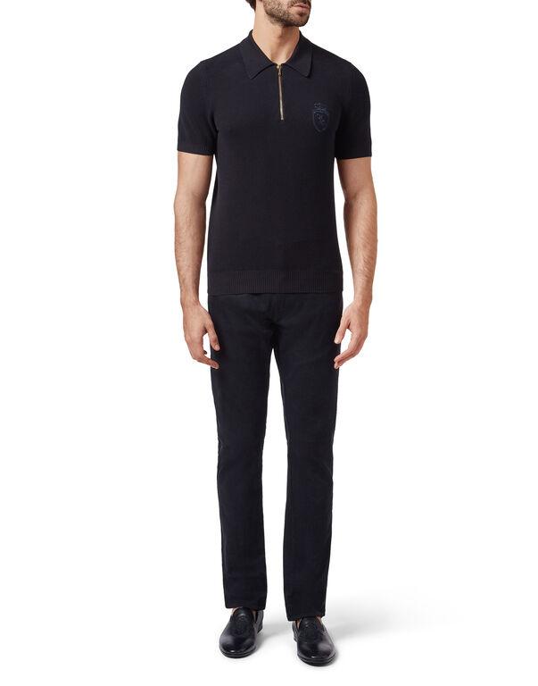 Pullover zip mock SS Crest
