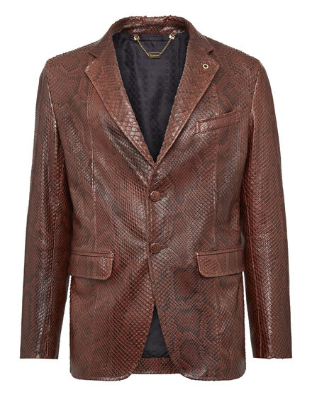 Leather Blazer Luxury