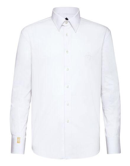Shirt Gold Cut LS Milano/Multi Crest