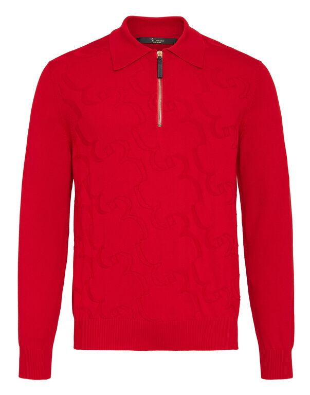 Pullover zip mock Braid