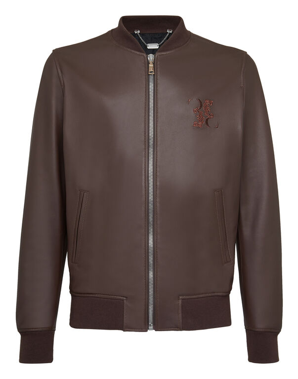 Leather Bomber Baroque