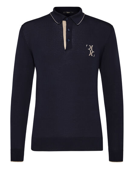 Pullover Polo-Neck LS Double B