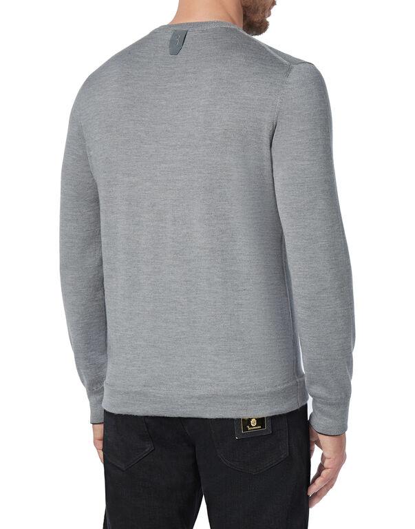 Pullover Round Neck LS Stripes