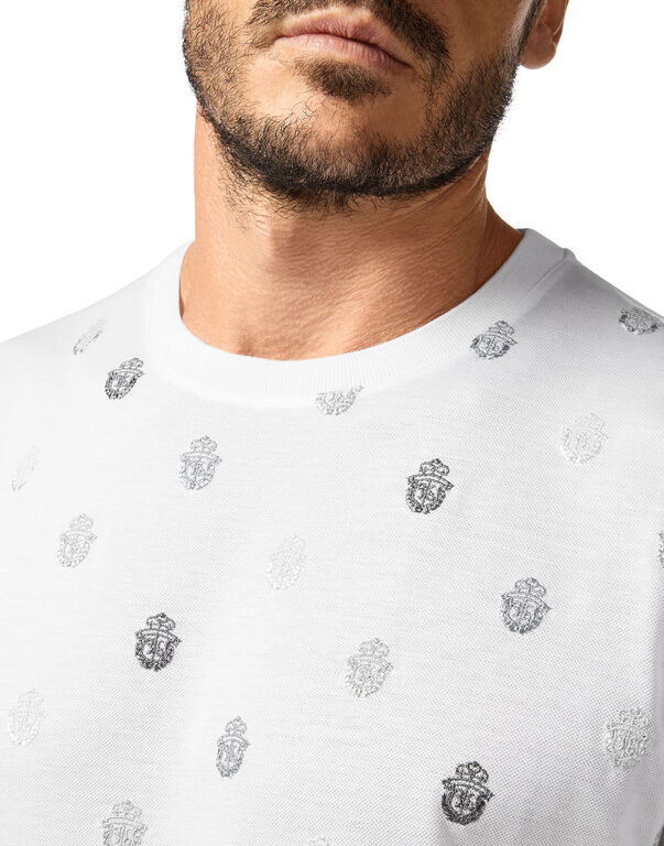 T-shirt Round Neck SS All over Crest