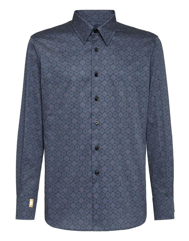 Shirt Silver Cut LS/Flavio Lion