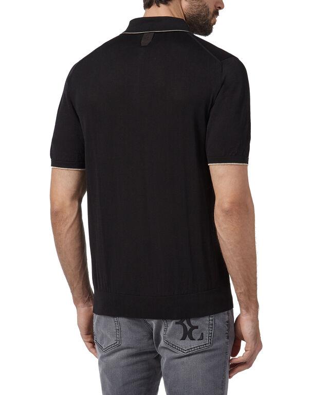 Pullover zip mock SS Double B