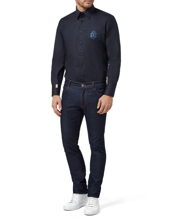 Shirt Silver Cut LS Milano/Watch Crest