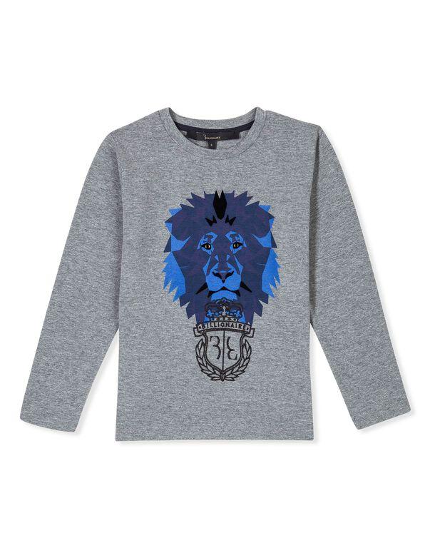 "T-shirt Round Neck LS ""Royal Mind"""