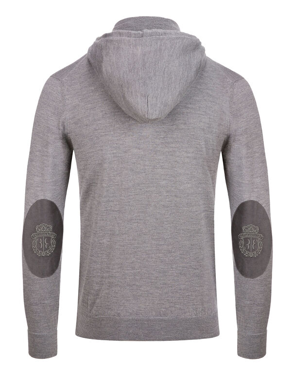 Knit hoodie Crest