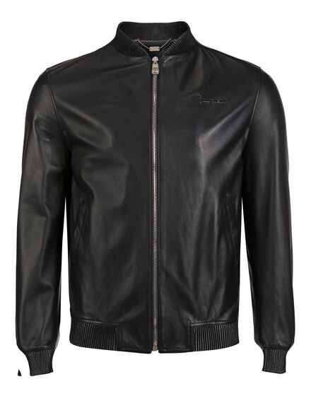 Leather Bomber Barry