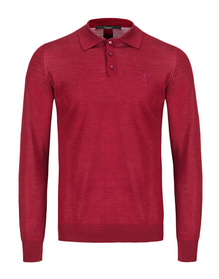 Pullover Polo-Neck LS Cross
