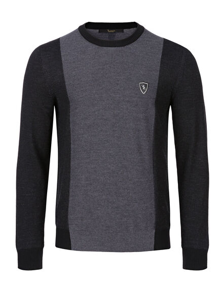 Pullover Round Neck LS Royal