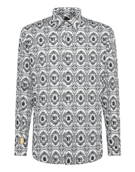Shirt Gold Cut LS/Milano Horses