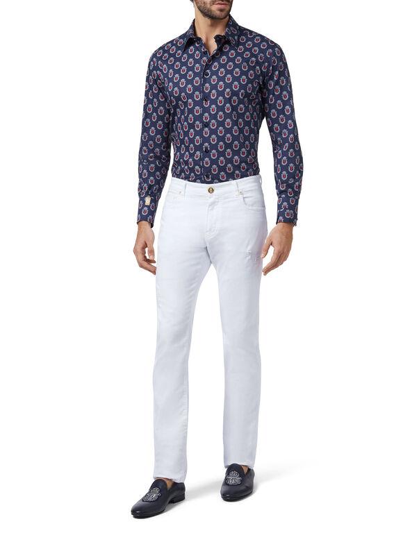 Shirt Silver Cut LS/Milano Lion