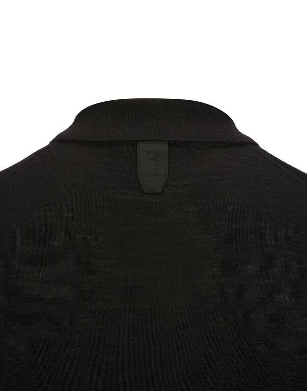 "Pullover Polo-Neck LS ""Cross"""