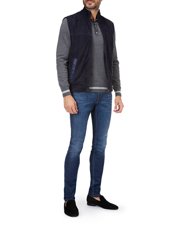 Pullover Polo-Neck LS Crest