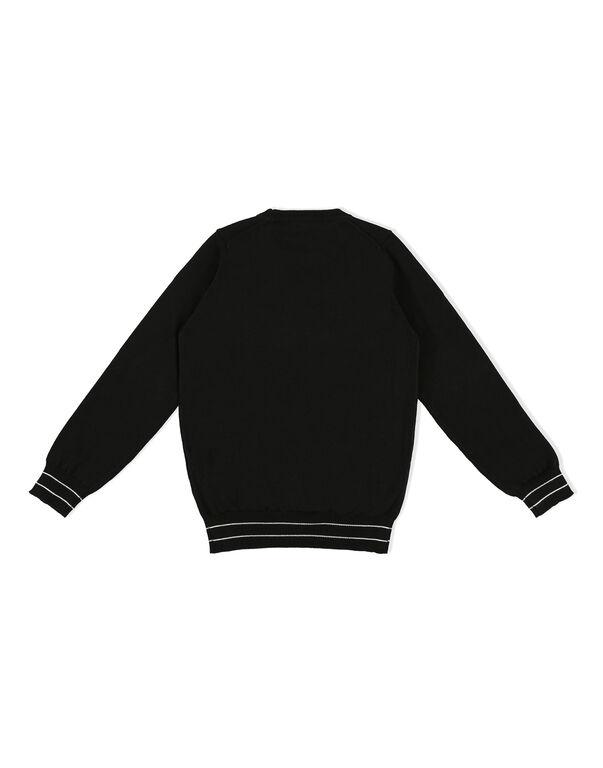 Pullover Round Neck LS Logos