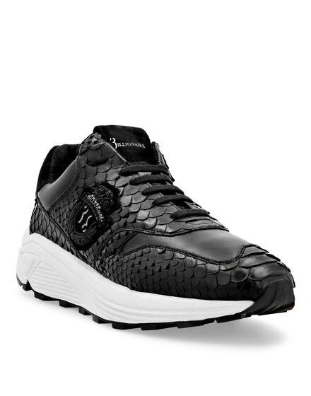 Python Leather Runner Wolf