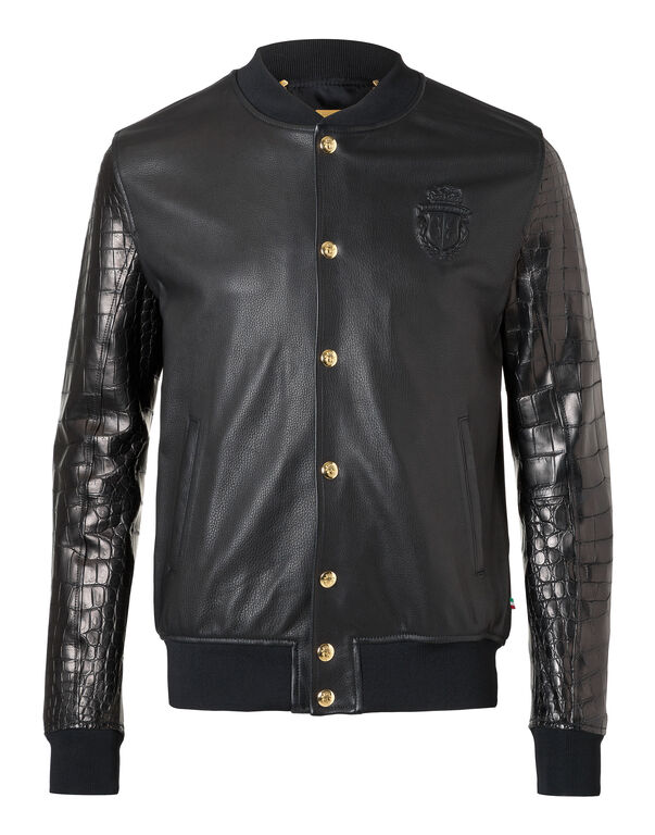 "Leather Bomber ""Robert"""