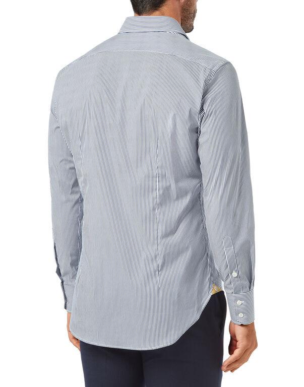 Shirt Silver Cut LS/Milano Stripes