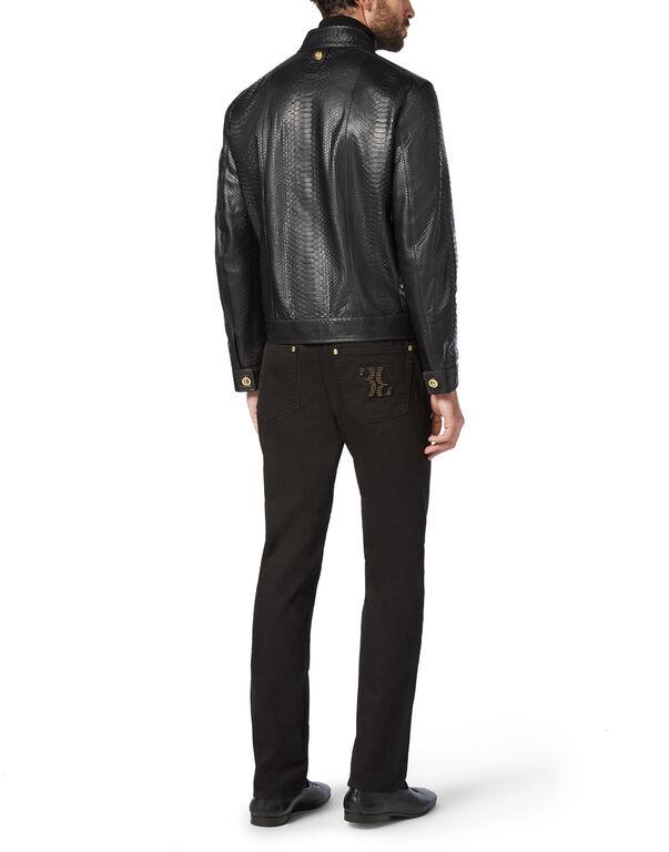 Python Leather Jacket Luxury