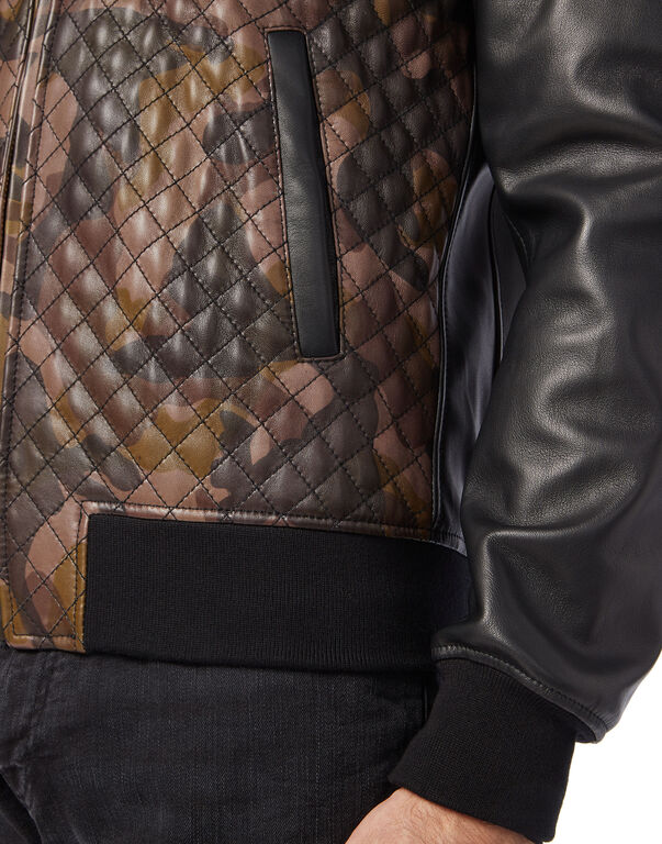 Leather Bomber Camouflage