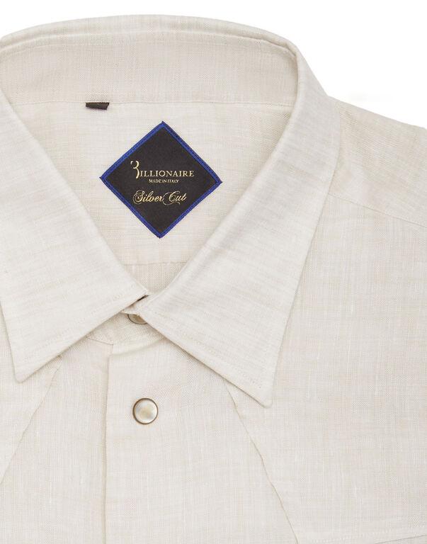 "Shirt Silver Cut LS ""Barnabas"""