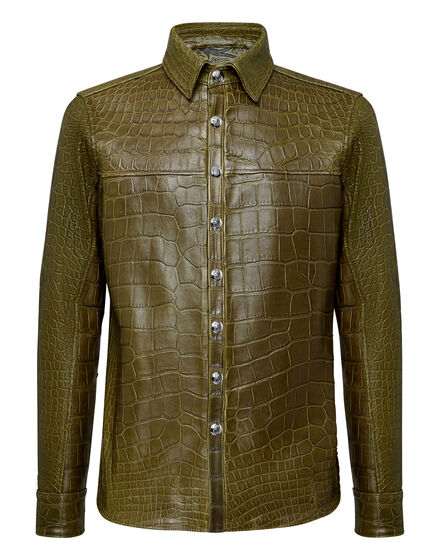 Crocodile Leather Shirts Luxury