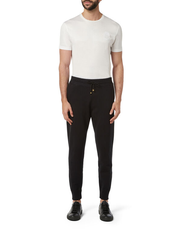 Knit Jogging Trousers Crest