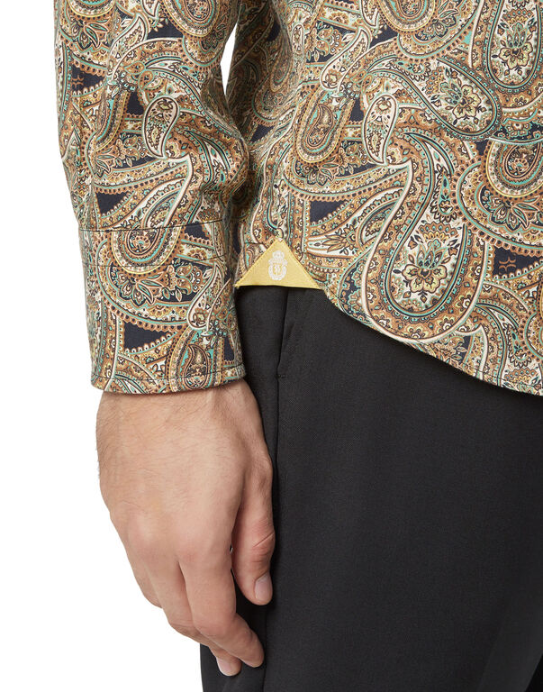 Shirt Gold Cut LS/Milano Paisley